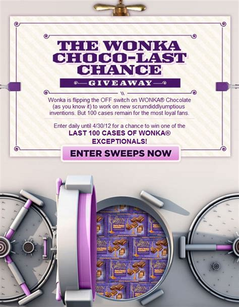 Last Chance Sweepstakes - wonka choco last chance giveaway sweepstakes mumblebee inc mumblebee inc