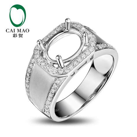 caimao oval cut semi mount ring settings 0 47ct