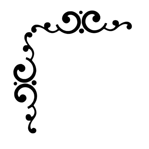 unique cool corner designs page corner line drawing clipart best