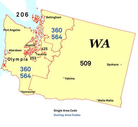 us area code map 206 nanpa number resources npa area codes