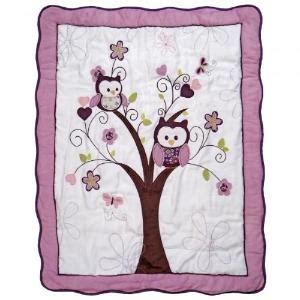 Plum Owl Crib Bedding by Owl Bedding