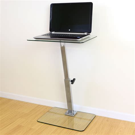 laptop sofa stand clear glass adjustable laptop notebook table stand bed