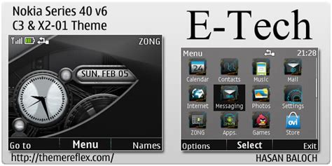 nokia c3 technology themes e tech theme for nokia c3 x2 01 asha 200 201 themereflex