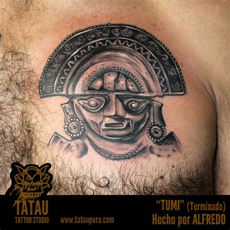 peruvian tattoos pin tumi peru inca tatatu on
