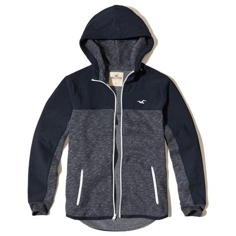 Hoodie Zipper Hollister Item lyst hollister zip hoodie in blue for