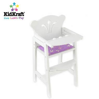 kidkraft lil doll table and chairs set white kidkraft lil doll high chair in white free shipping 34 08