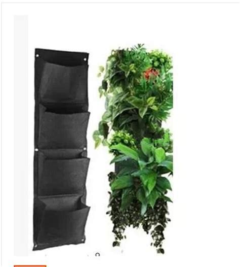 Hanging Bag Planters by 4 Layers Pocket Vertical Green Wall Planters Potato Bag