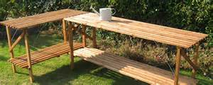 Homebase For Kitchens Furniture Garden Decorating by Greenhouse Staging Garden Furniture Potting Benches
