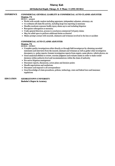 Claims Insurance Department Of Resume by Auto Claims Adjuster Resume Sles Velvet