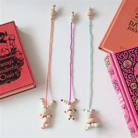 bead bookmark craft diy bead bunny bookmark for bookmarks and bunny