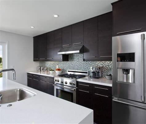 line kitchen cabinets a single line kitchen layout featuring modern walnut
