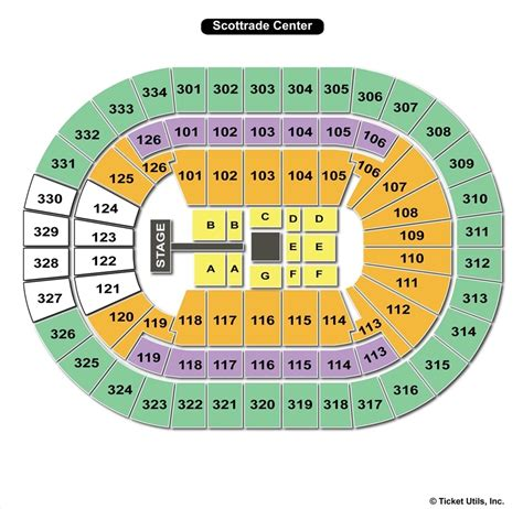 scottrade center seating rows st louis blues scottrade center seating chart