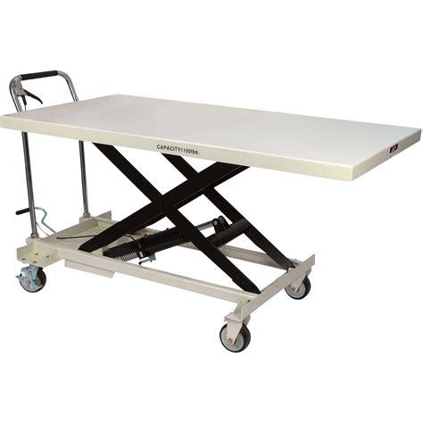 manual lift table rental jet jumbo hydraulic scissor lift table 1 100 lb