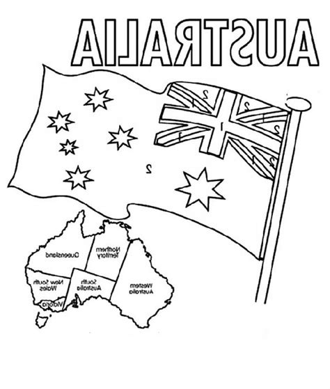 Printable Australian Flag Coloring Home Australia Day Coloring Pages