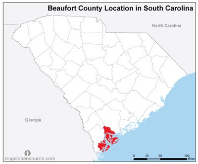 Beaufort County Sc Records Free And Open Source Location Map Of Beaufort County South Carolina Mapsopensource