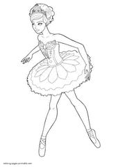 Mini Barbie Coloring Pages | barbie in the pink shoes coloring pages for girls
