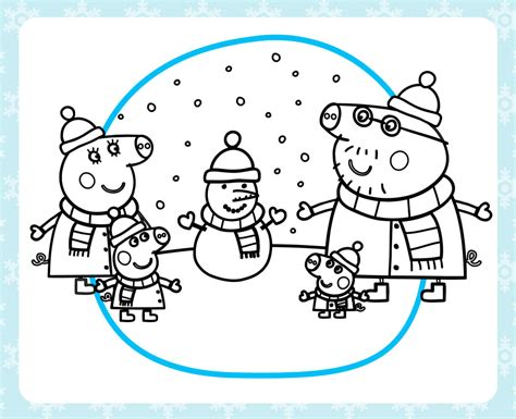 Peppa Pig Winter Coloring Pages | stay warm with a printable peppa pig winter coloring pack