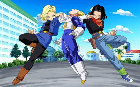 dbz wallpaper for android hd dbz android 18 and 17 androids wallpapers computer