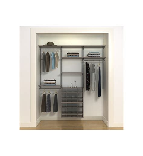 Closet Rail System Freedom Rail Closet With Shoe Cubbies In Pre