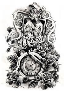 steampunk clock tattoo designs clock tattoo sleeve