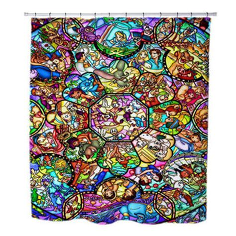stained glass shower curtain best disney shower curtain products on wanelo