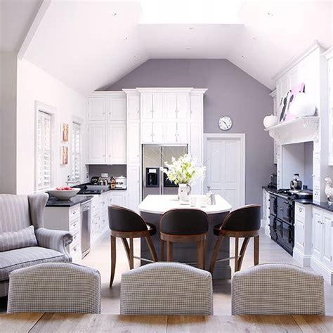 open plan kitchen diner with co ordinating colour scheme open plan kitchen design ideas