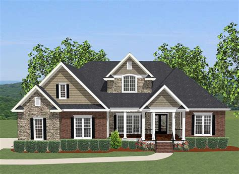 architectural house designs 4 bed house plan with upstairs office 46230la architectural designs house plans