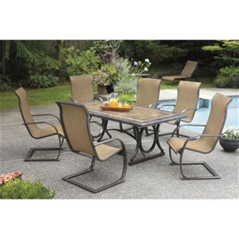 Top Patio Table Costco by Costco Sling C 7 Dining Set Porcelain Table