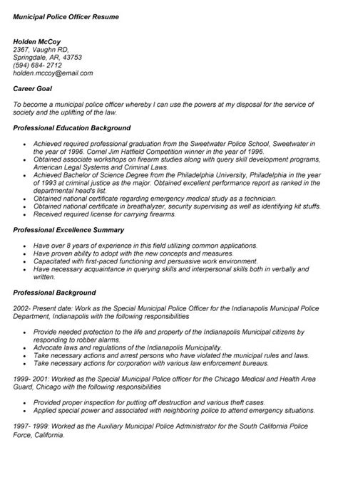 retiree resume sles municipal officer resume shalomhouse us