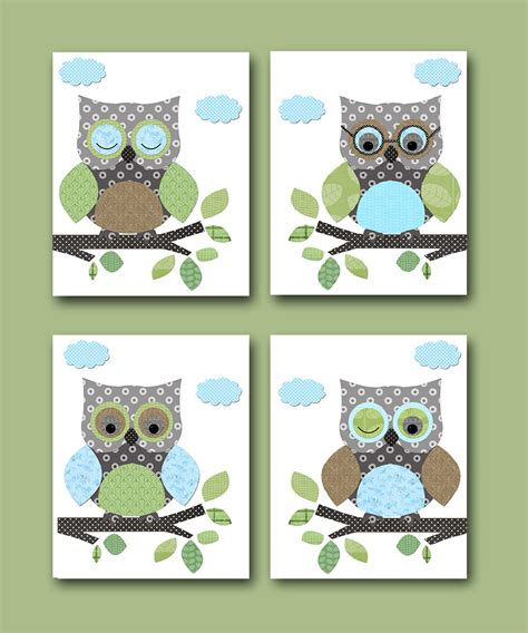 Owl Decor Owls Nursery Baby Boy Nursery Art Nursery Wall Art Owl Decorations For Baby Nursery