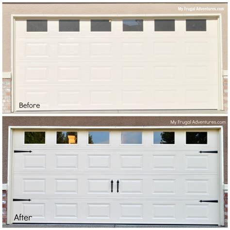 easy diy garage door upgrade garage door update