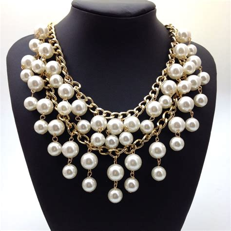 new design high quality statement necklace collar pearl