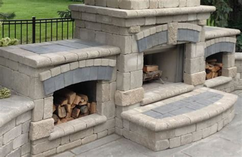 metro detroit outdoor fireplace installation from avc services