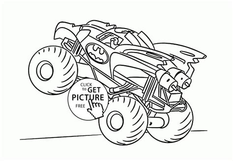 monster truck coloring pages images  pinterest