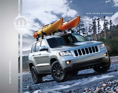 jeep cherokee kayak rack jeep grand cherokee wk2 mopar accessories