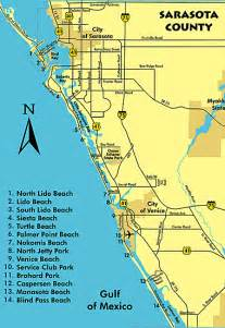 sarasota florida map area map of sarasota florida beaches
