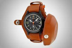 Swiss Army Date Leather Original ww2 leather wristwatch protector timex