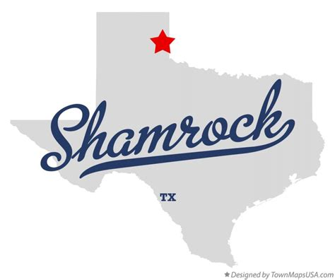 shamrock texas map map of shamrock wheeler county tx texas