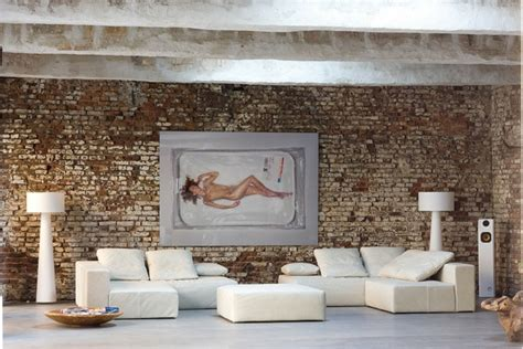 tapisserie brique tapisserie moderne salon hallucinant papier peint moderne