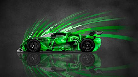 4k Koenigsegg Regera Side Super Abstract Aerography Car
