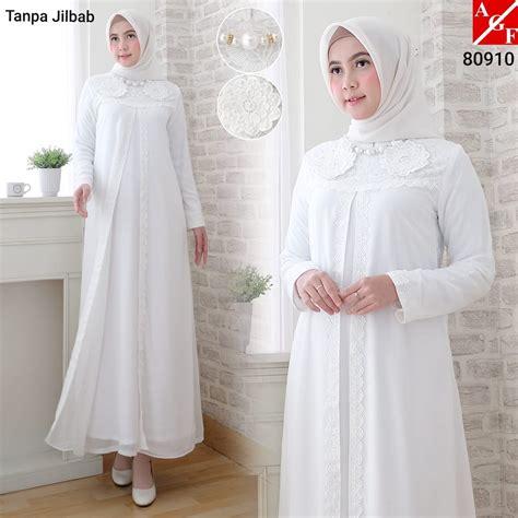 Sale Gamis Brukat sale baju gamis wanita brukat gamis putih lebaran