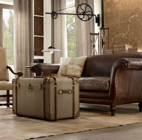 trunks decor ideas living rooms leather
