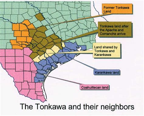 map of indian tribes in texas indians