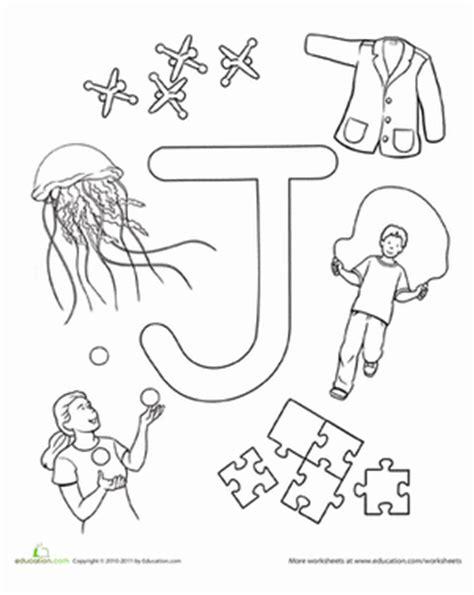 preschool coloring pages letter j j is for worksheet education com