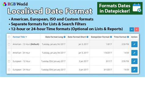 Localised Date Format | localised date format