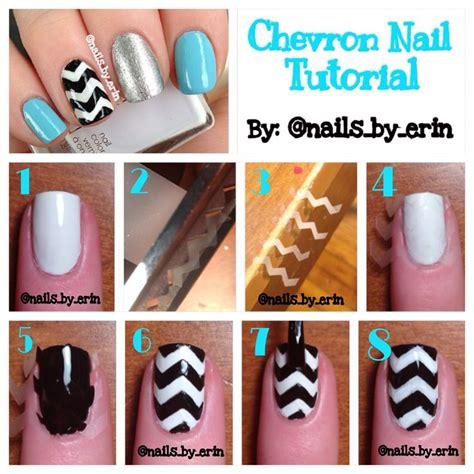 tutorial nail art bunga chevron nail tutorial my nail tutorials pinterest