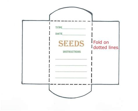 blank seed packet template search results for free blank seed packet template