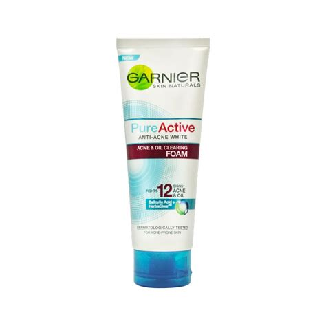 Pembersih Wajah Verile garnier active anti acne foam 100ml medanmart