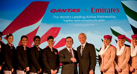 emirates alliance the scan emirates deals oneworld a blow with qantas tie