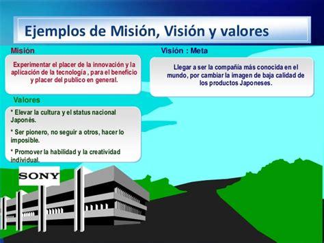 mision vision y valor es de una empresa misi 243 n vision valores
